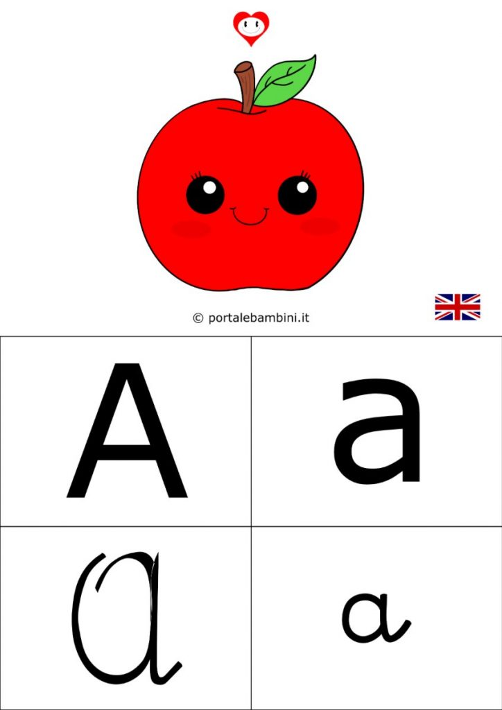 alfabetiere inglese da stampare a