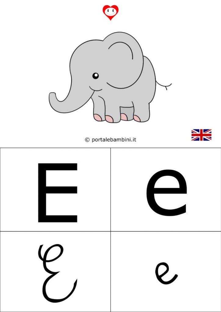 alfabetiere inglese da stampare e