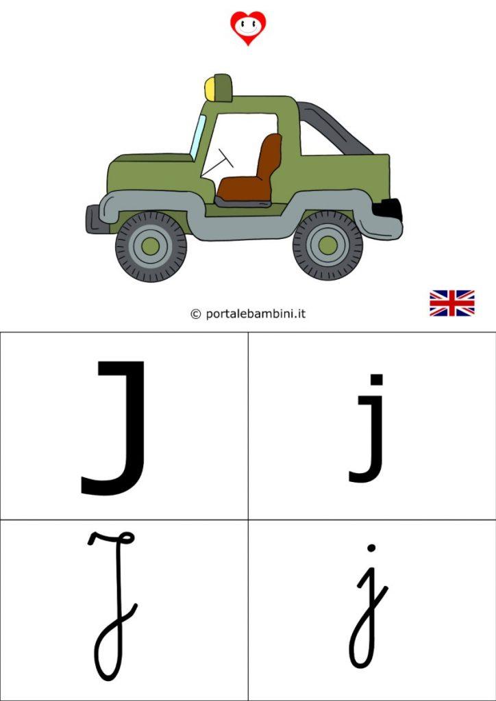 alfabetiere inglese da stampare j