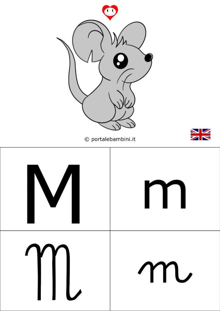 alfabetiere inglese da stampare m