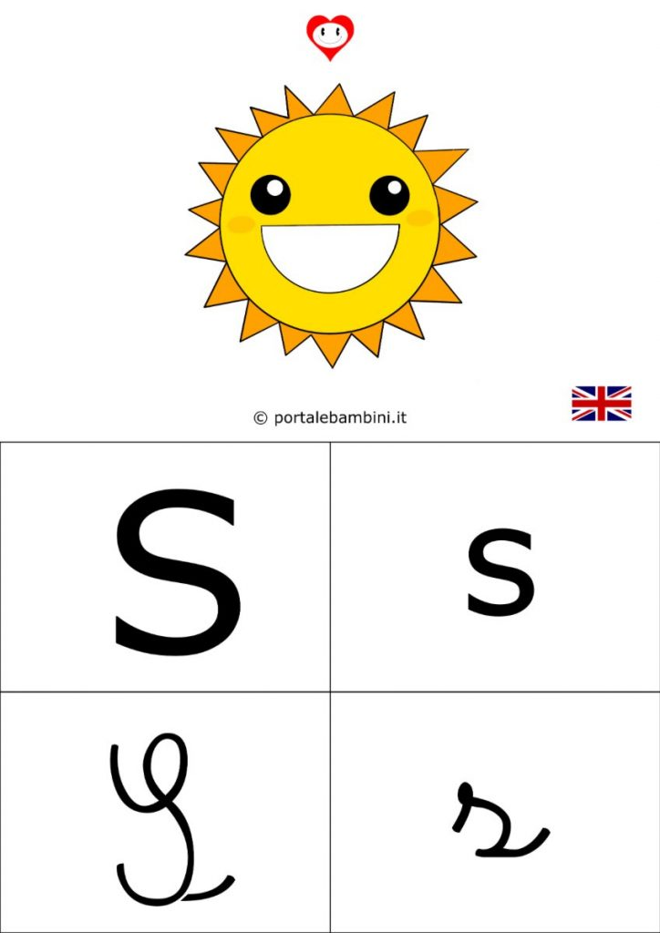 alfabetiere inglese da stampare s
