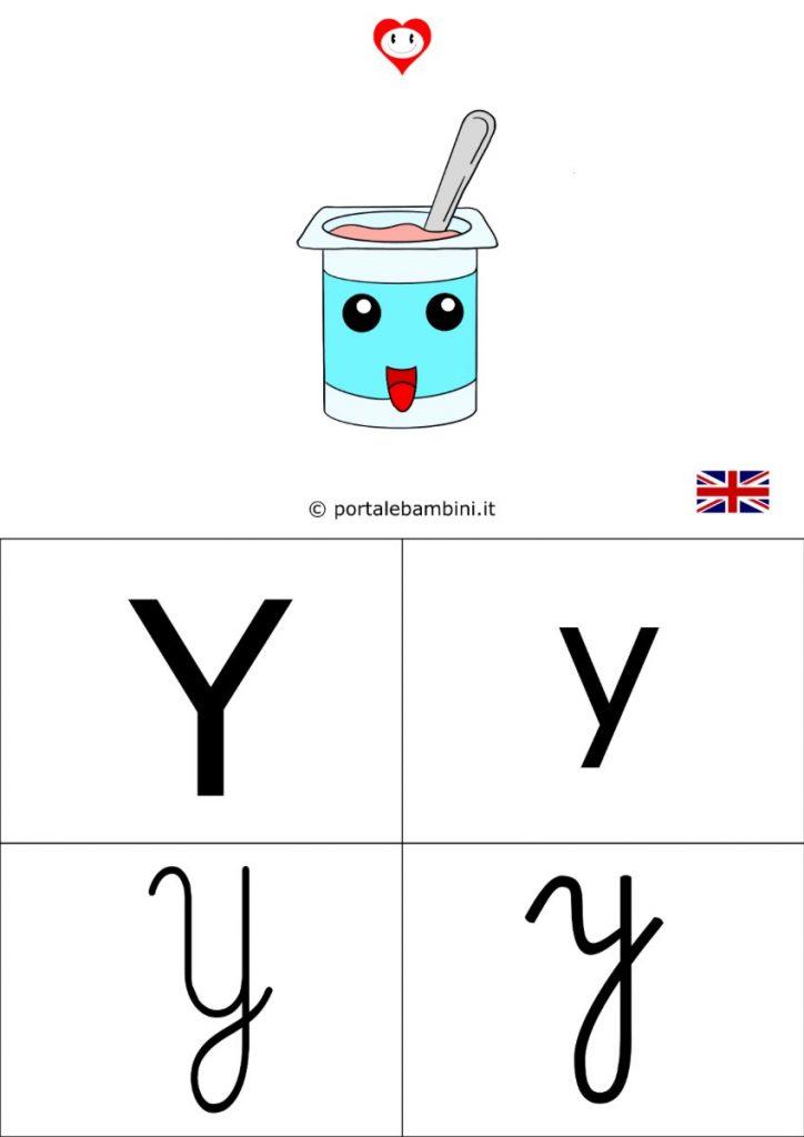 alfabetiere inglese da stampare y