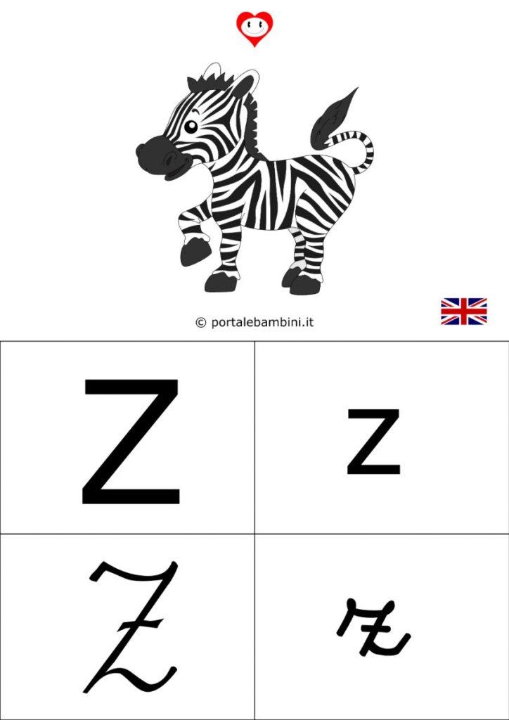 alfabetiere inglese da stampare z