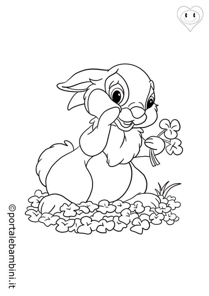 animali del bosco da colorare conigli