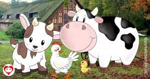 animali della fattoria da colorare