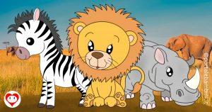 animali della savana da colorare