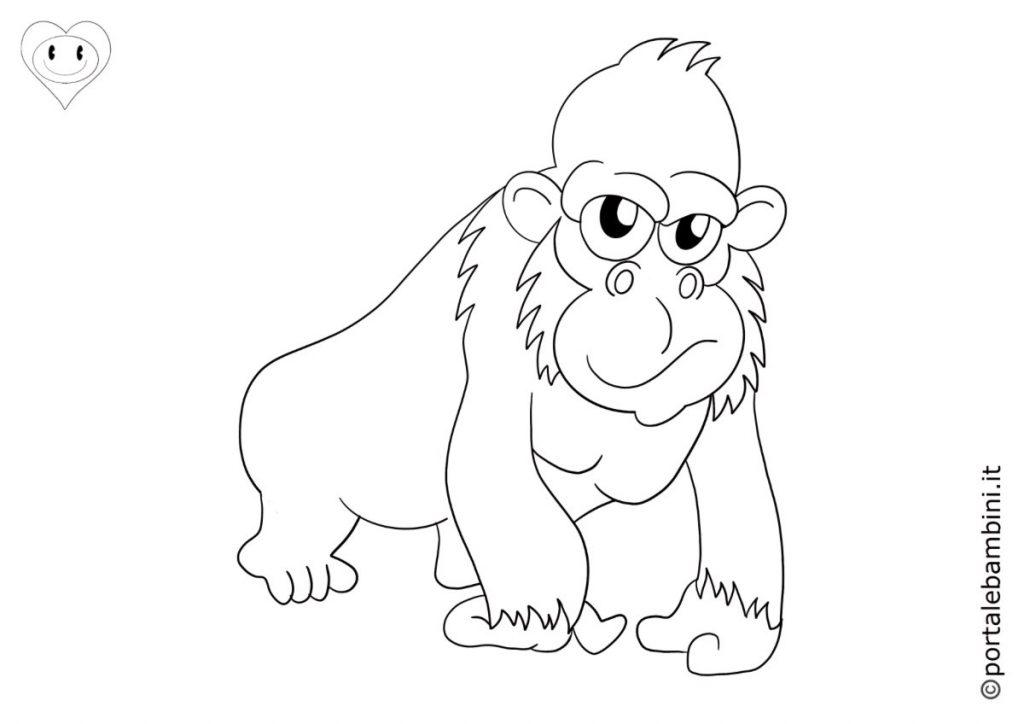 gorilla da colorare 3