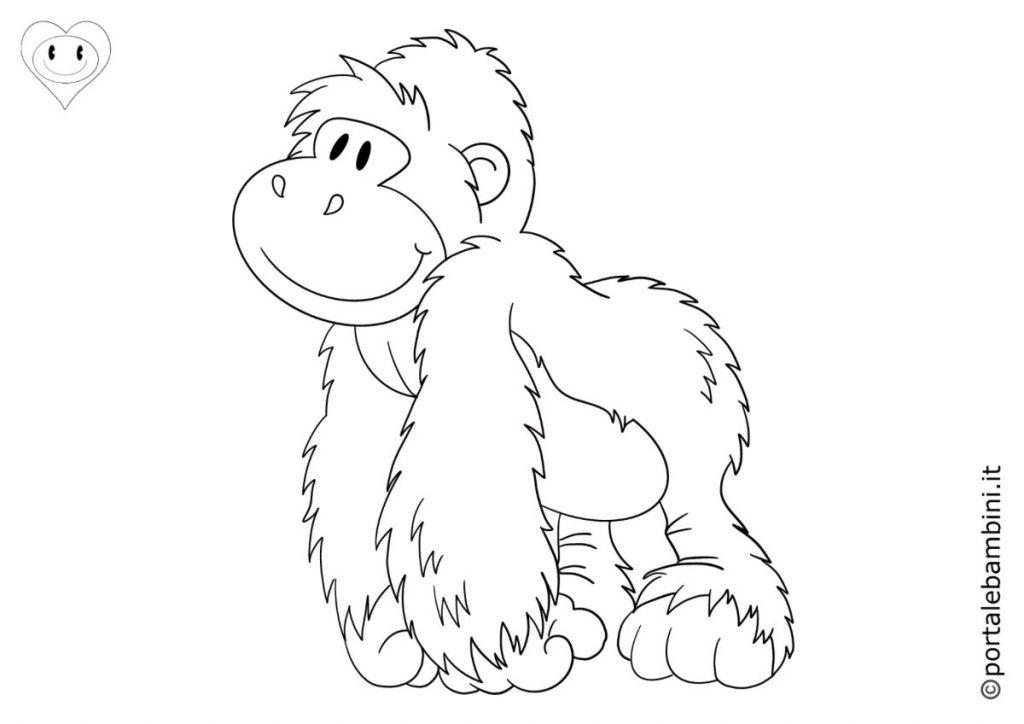 gorilla da colorare 1