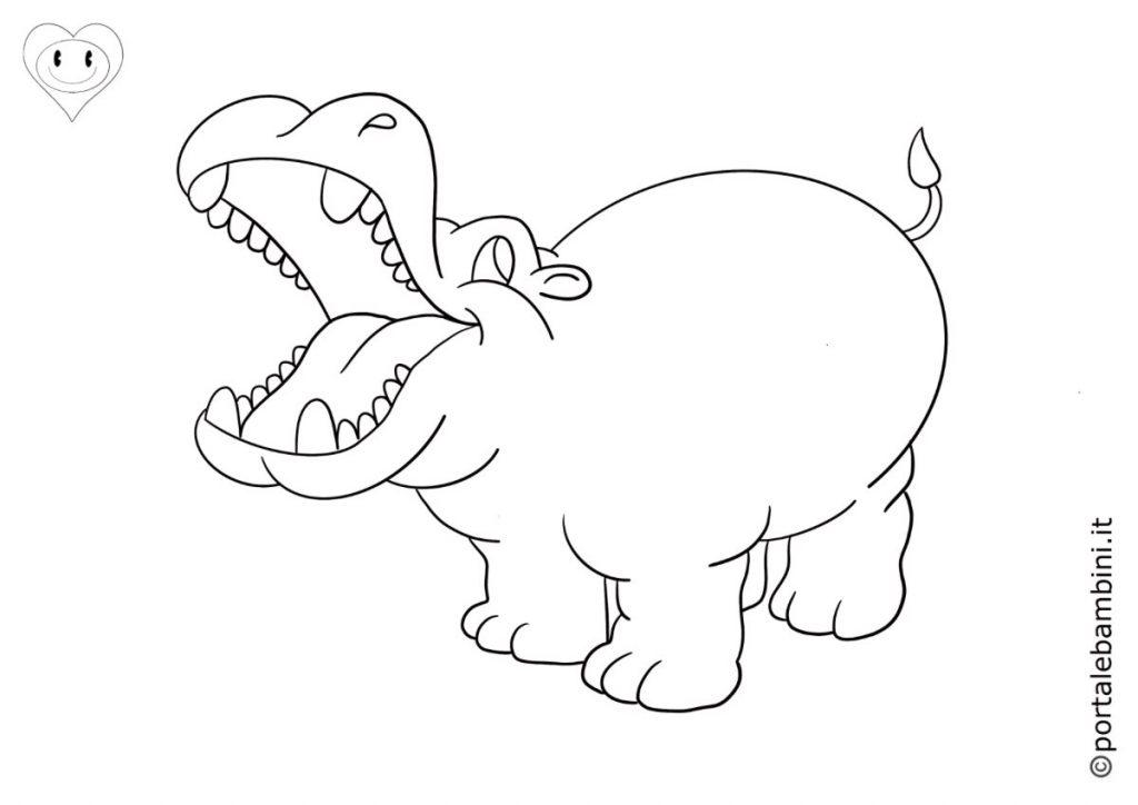 ippopotami da colorare 1