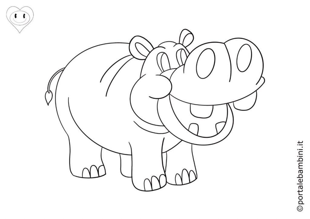 ippopotami da colorare 2