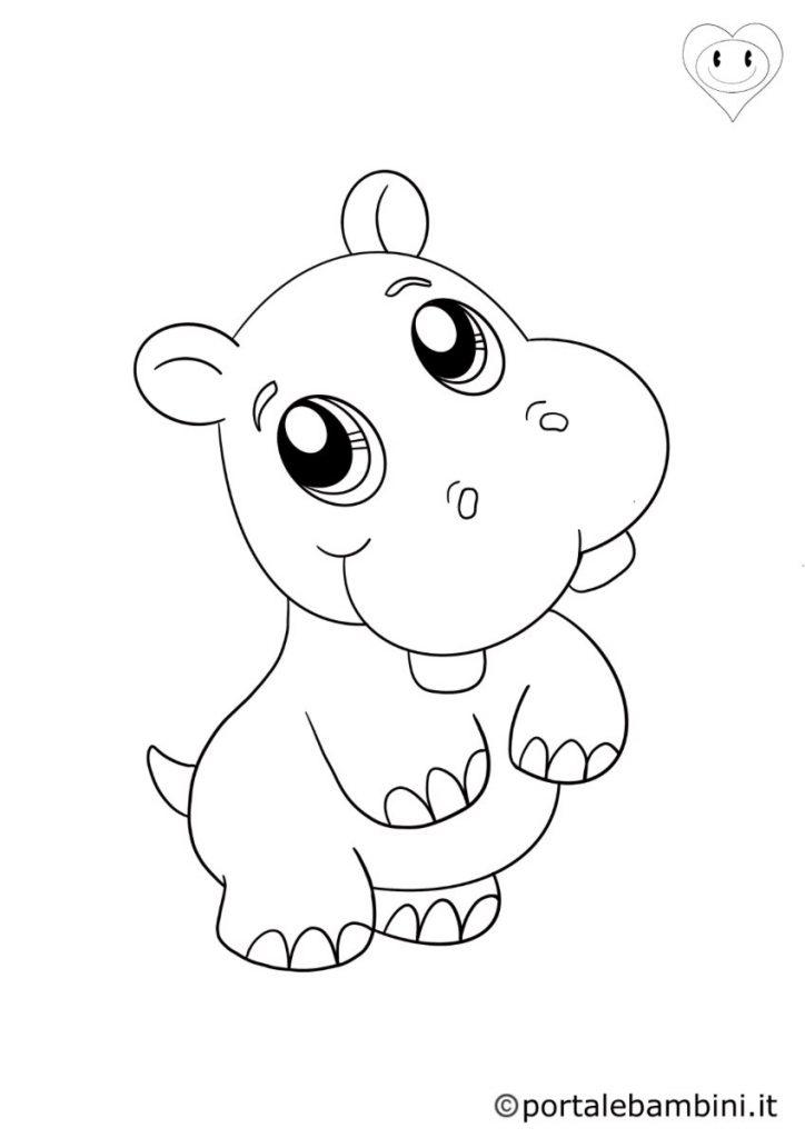 ippopotami da colorare 5