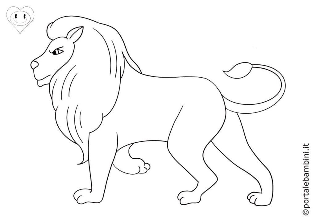 leoni da colorare 1