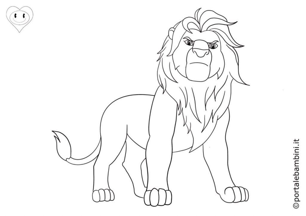 leoni da colorare 3