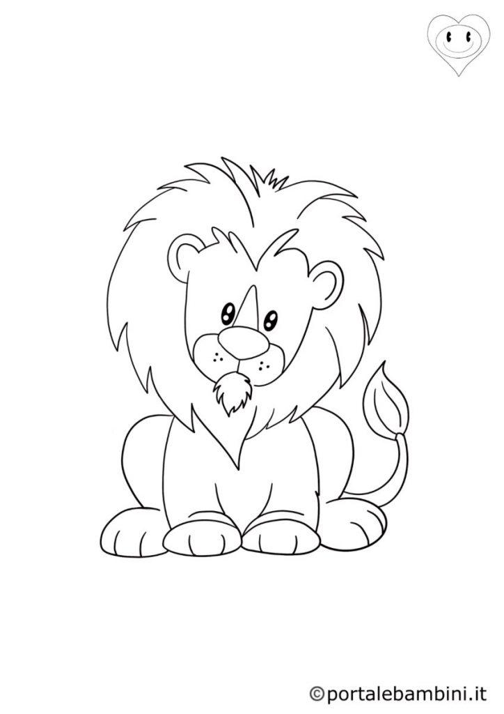 leoni da colorare 6