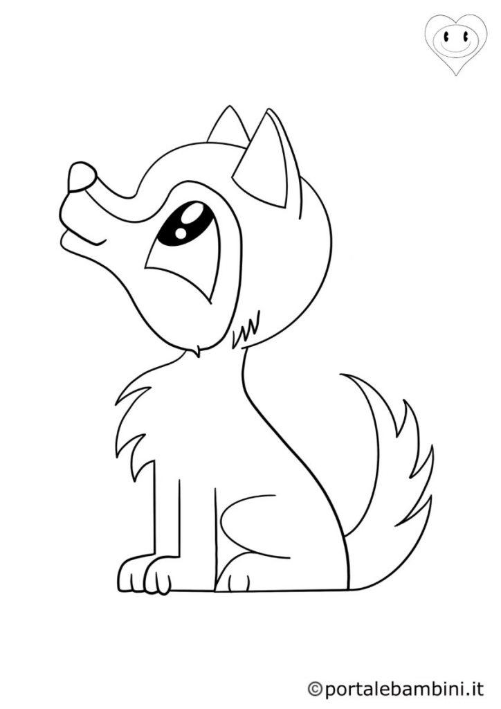 lupi da colorare 1