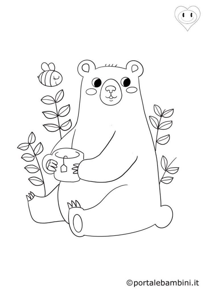 animali del bosco da colorare orsi