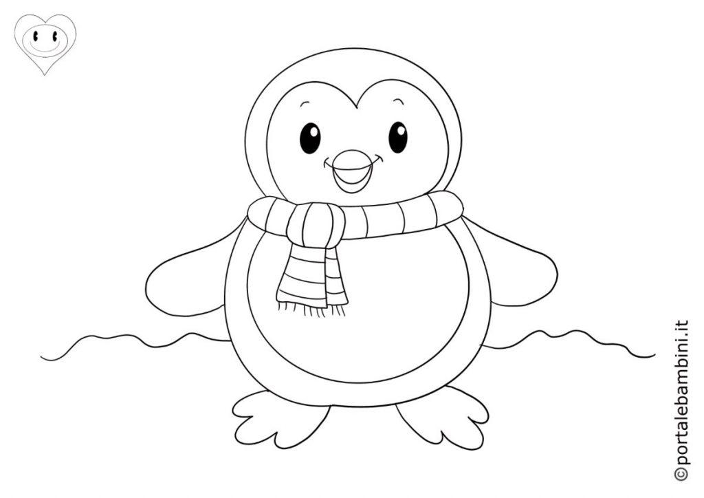 pinguini da colorare 3