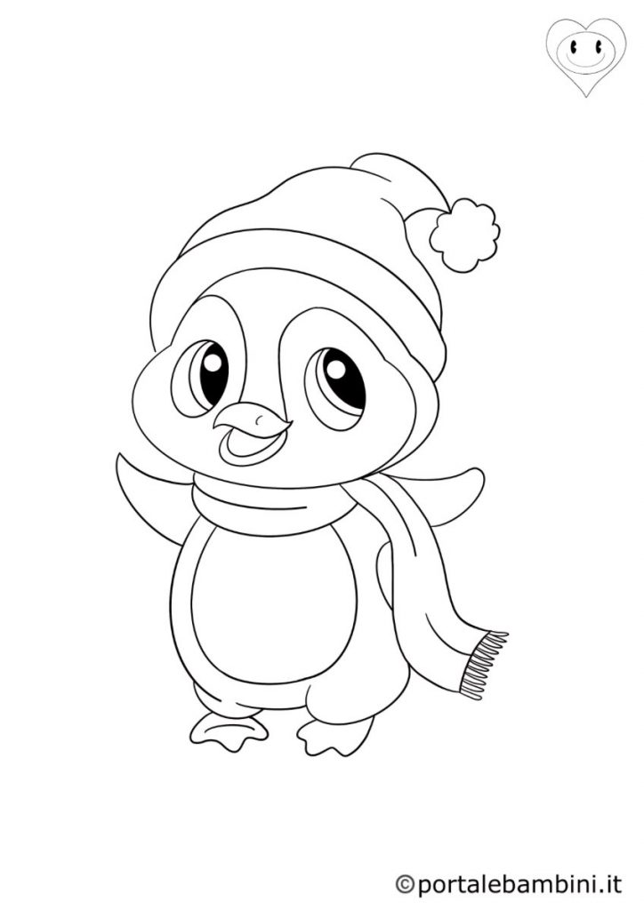 pinguini da colorare 6