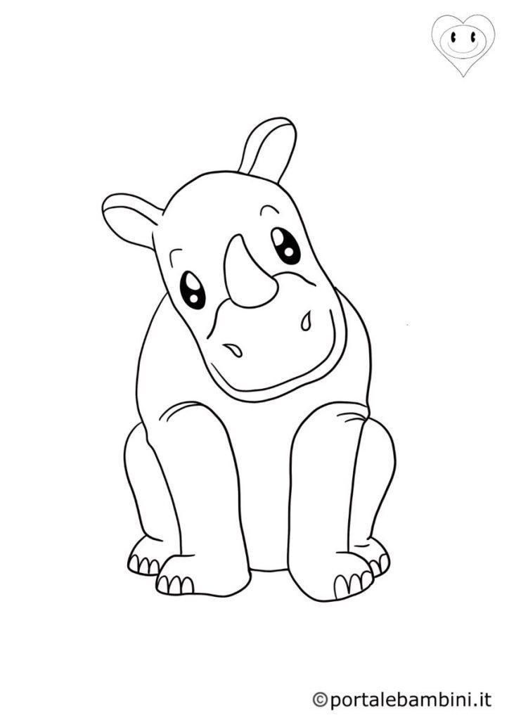 rinoceronti da colorare 6