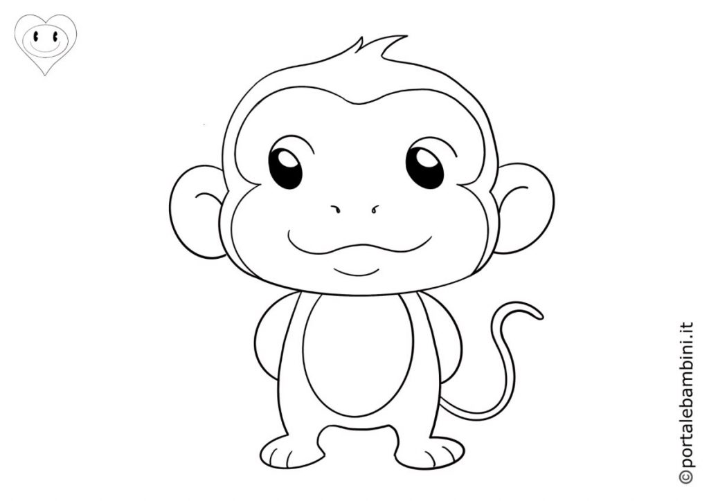 scimmie da colorare 5