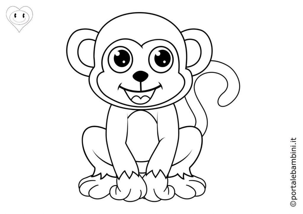 scimmie da colorare 6