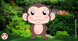 scimmie da colorare