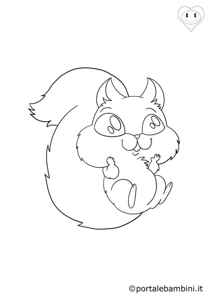 scoiattoli da colorare 5